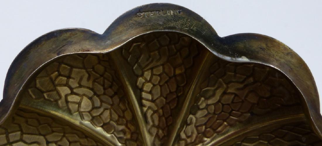 STERLING SILVER & CRYSTAL PUMPKIN FORM SUGAR - 2