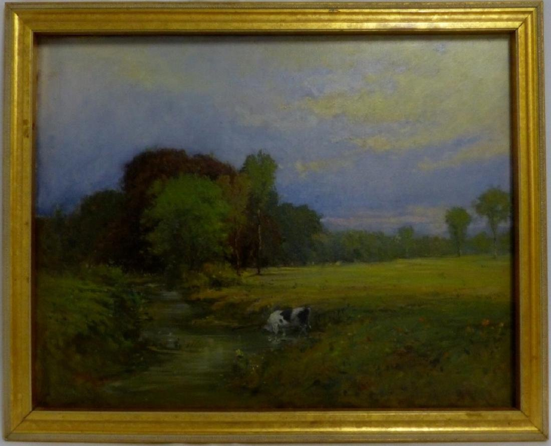 JAMES RODGERS OIL PAINTING ON CANVAS OF LANDSCAPE
