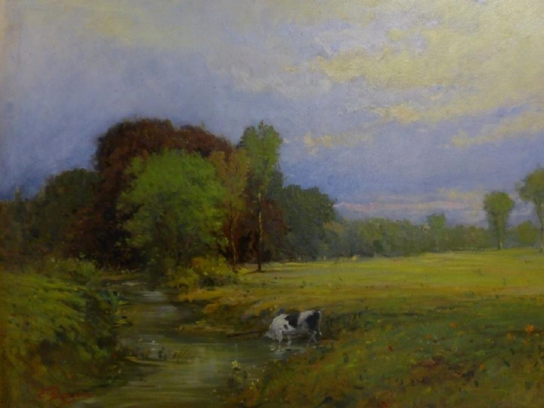 JAMES RODGERS OIL PAINTING ON CANVAS OF LANDSCAPE - 2