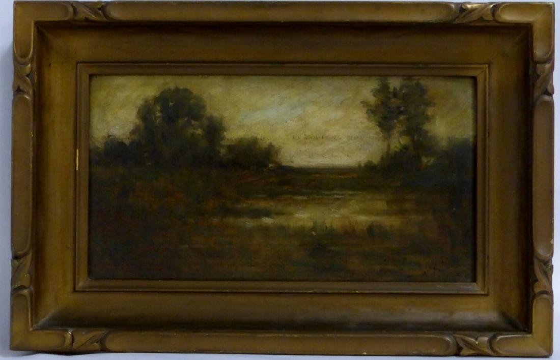 ADOUHIN OIL PAINTING ON BOARD OF LANDSCAPE
