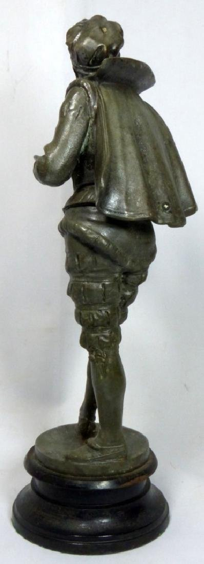 FRENCH METAL SCULPTURE OF COURT JESTER - 3