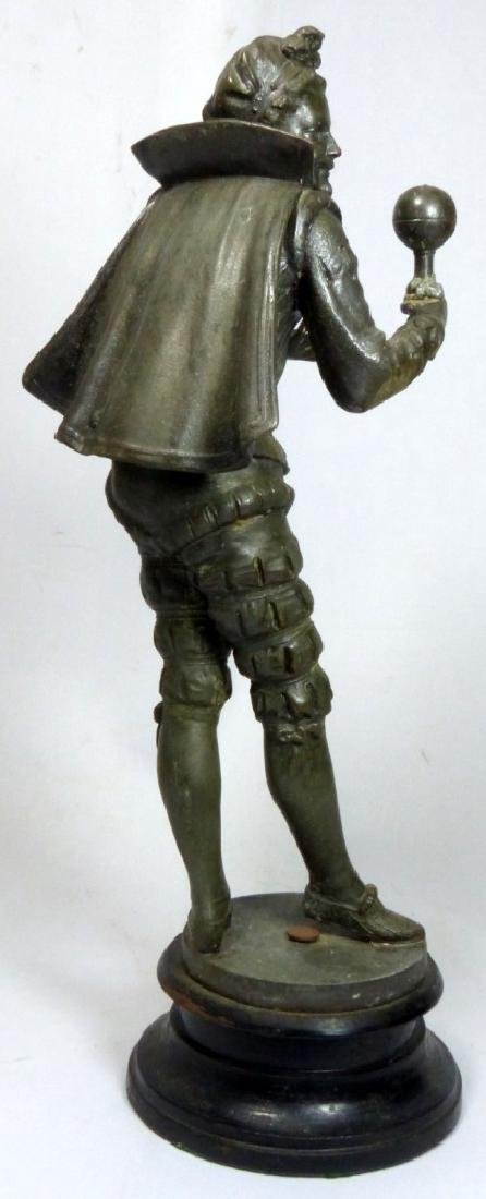 FRENCH METAL SCULPTURE OF COURT JESTER - 4