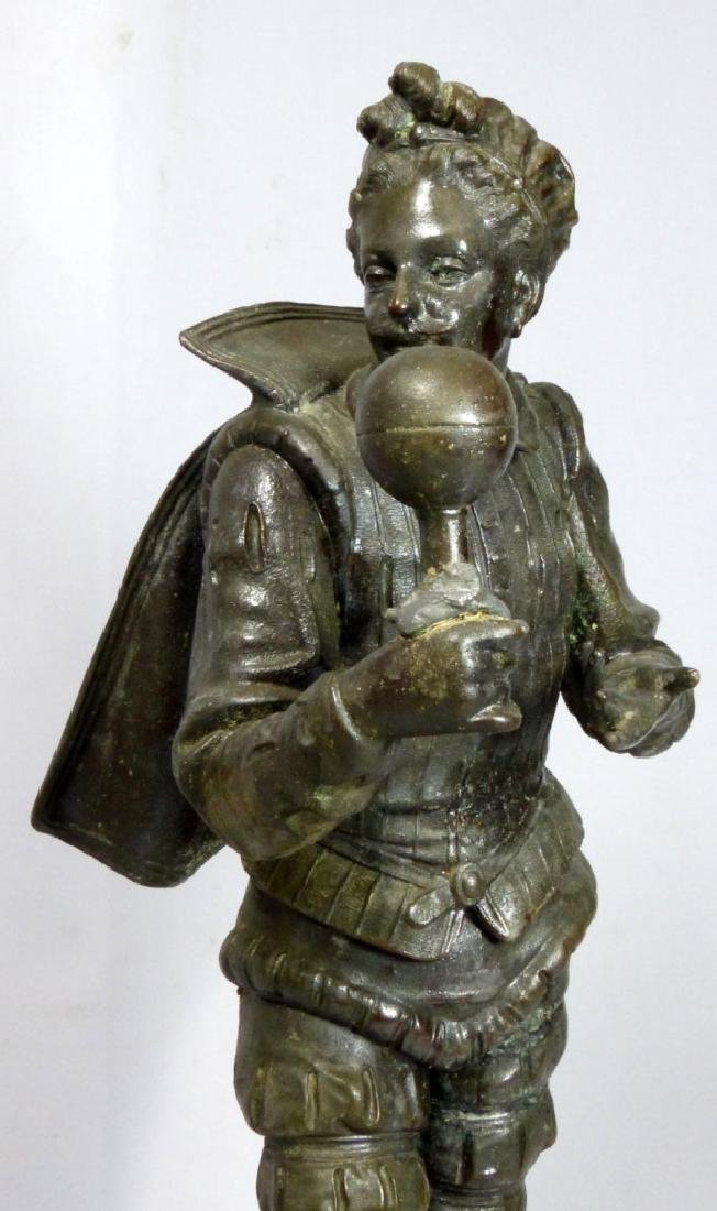 FRENCH METAL SCULPTURE OF COURT JESTER - 5