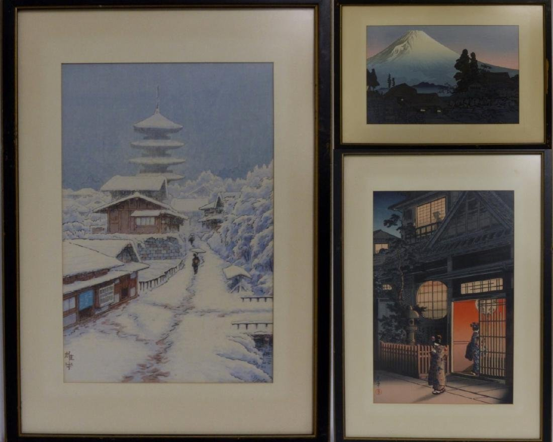 3 JAPANESE LANDSCAPE PRINTS