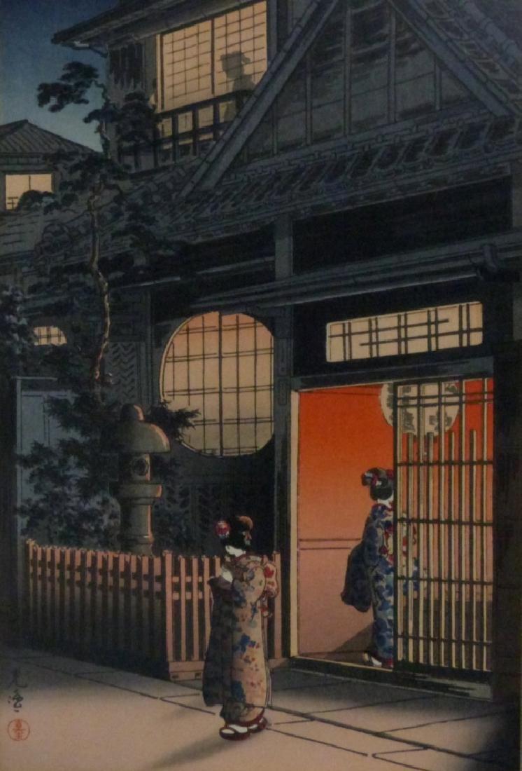 3 JAPANESE LANDSCAPE PRINTS - 3