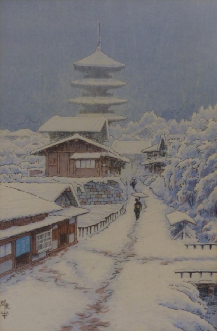 3 JAPANESE LANDSCAPE PRINTS - 9