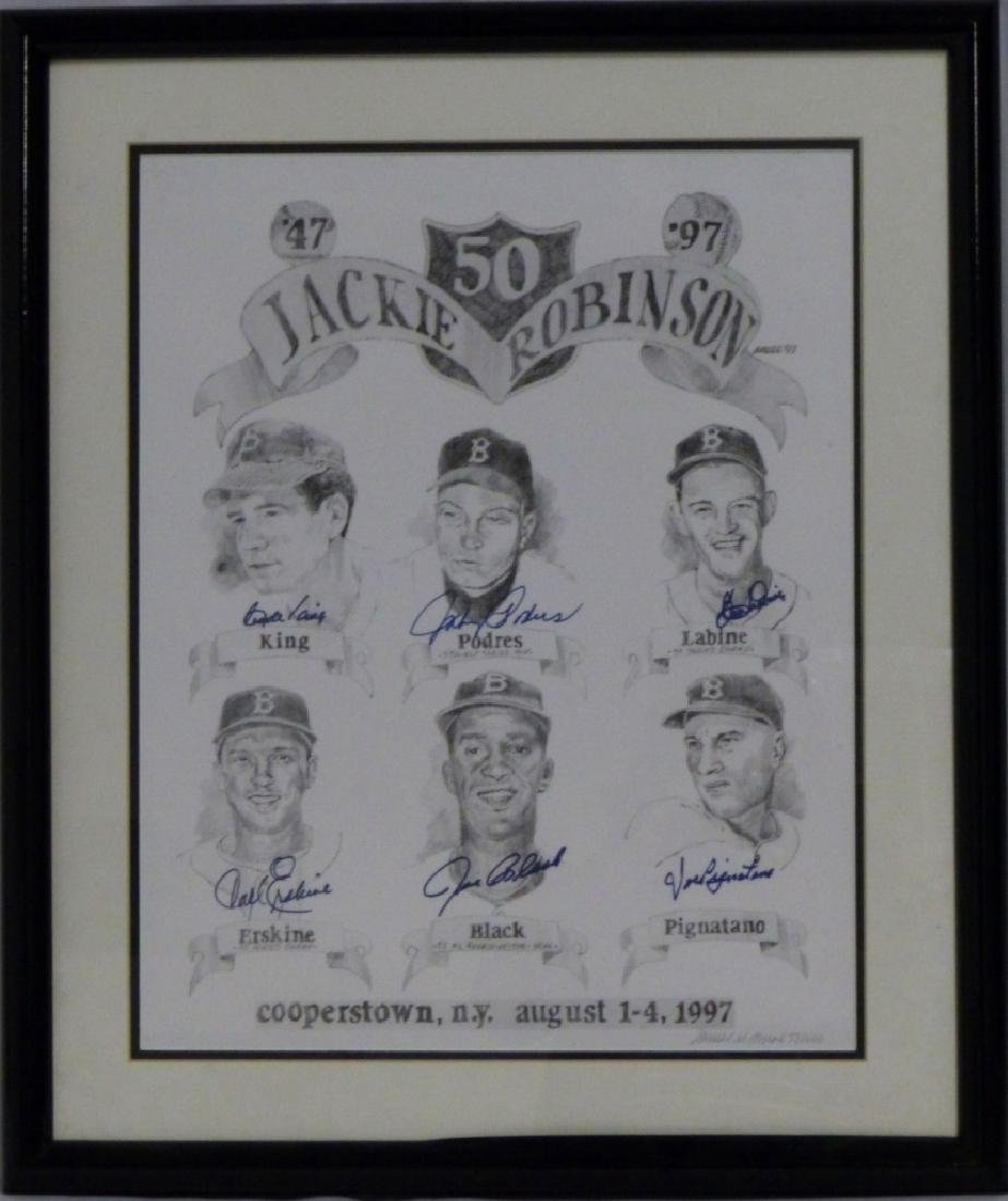 JAMES AMORE JACKIE ROBINSON LITHOGRAPH SIGNED