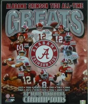 ALABAMA CRIMSON TIDE'S ALL TIME GREATS PHOTO