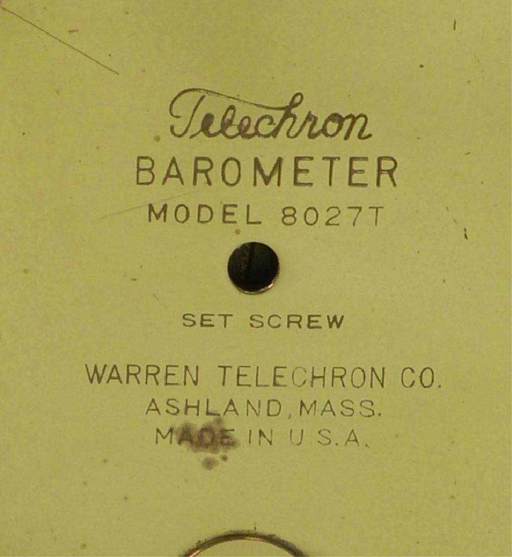 VINTAGE WARREN TELECHRON SHIP WHEEL BAROMETER - 5
