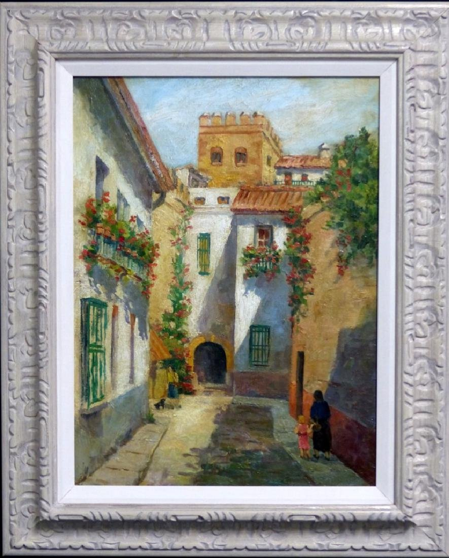 ANTHONY THIEME OIL PAINTING ON CANVAS