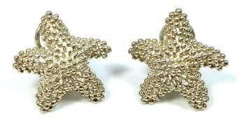 PR TIFFANY & CO STERLING SILVER STARFISH EARRINGS