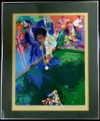 LEROY NEIMAN BLACK BREAK SERIGRAPH SIGNED 150300