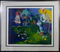 LEROY NEIMAN POOL ROOM SERIGRAPH SIGNED 7300