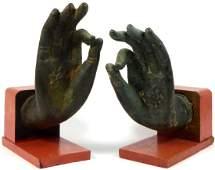PR ANTIQUE THAI BRONZE BUDDHA HANDS