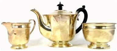 3pc GEORGE V ENGLISH STERLING SILVER TEA SET