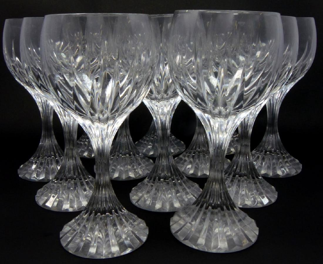 12pc BACCARAT MESSENA CRYSTAL WATER GOBLETS
