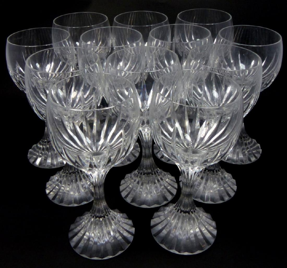 12pc BACCARAT MESSENA CRYSTAL WATER GOBLETS - 2