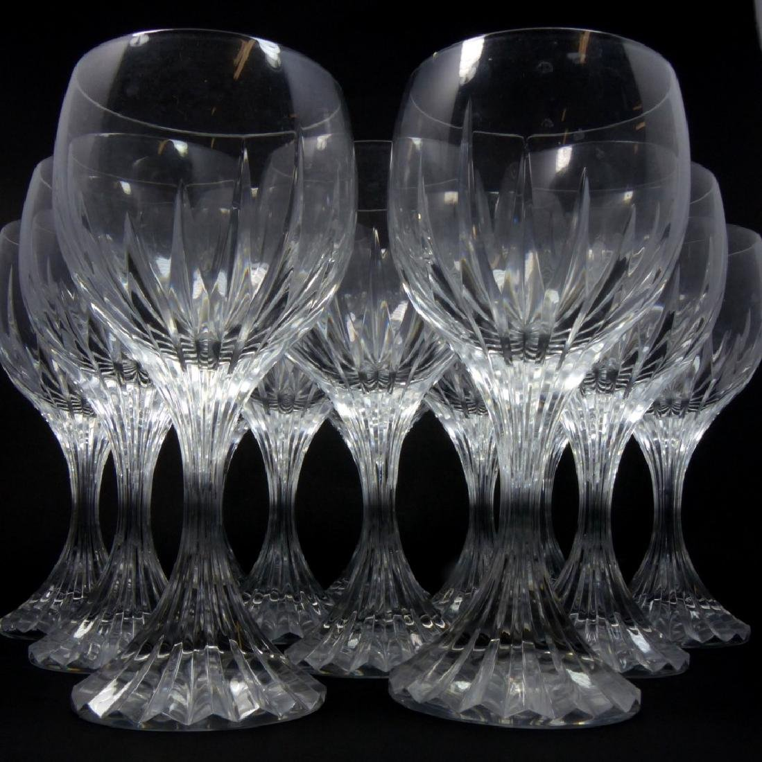12pc BACCARAT MESSENA CRYSTAL WATER GOBLETS - 3