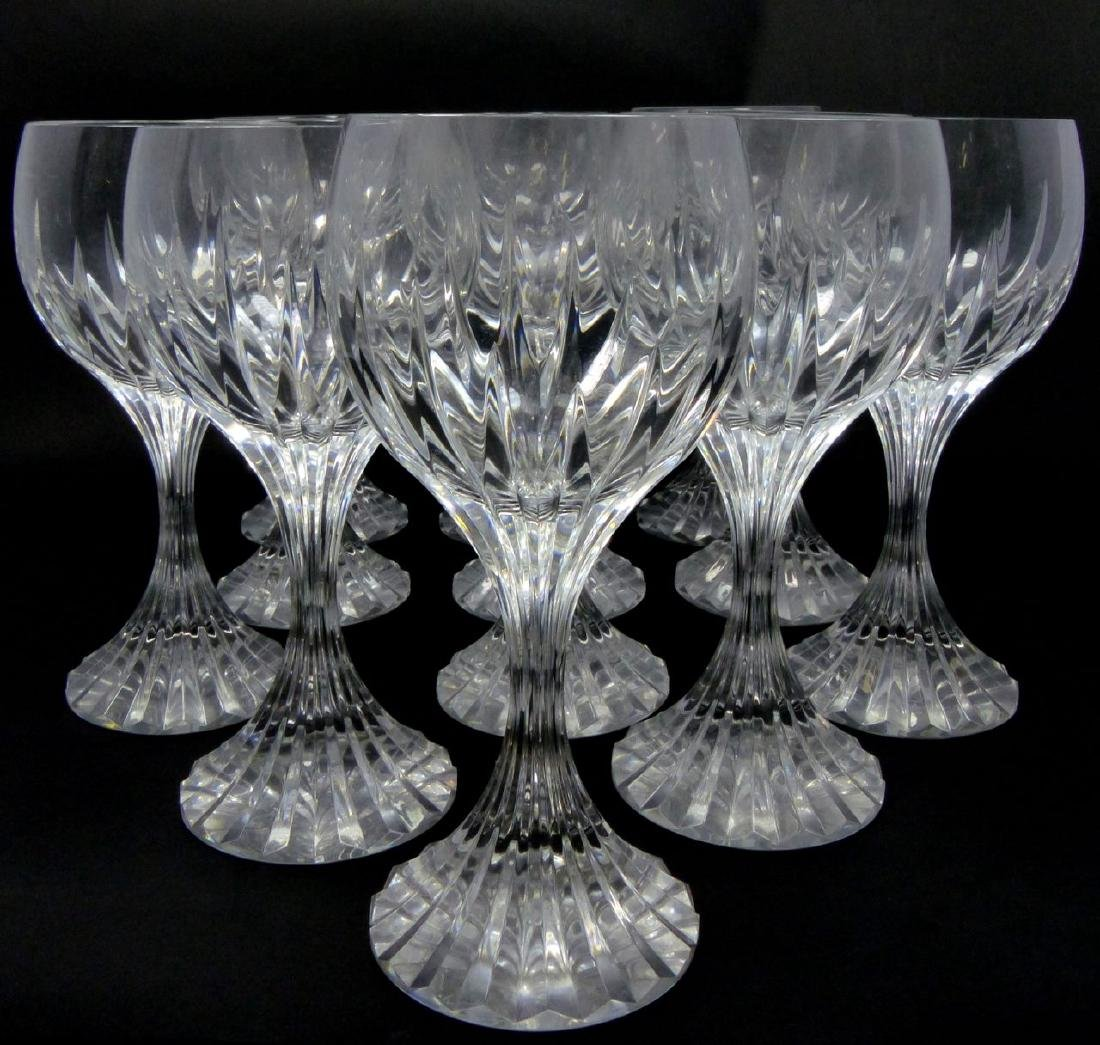 12pc BACCARAT MESSENA CRYSTAL WATER GOBLETS - 4