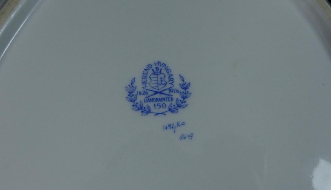 HEREND 'ROTHSCHILD' PORCELAIN TRIANGULAR BOWL - 5