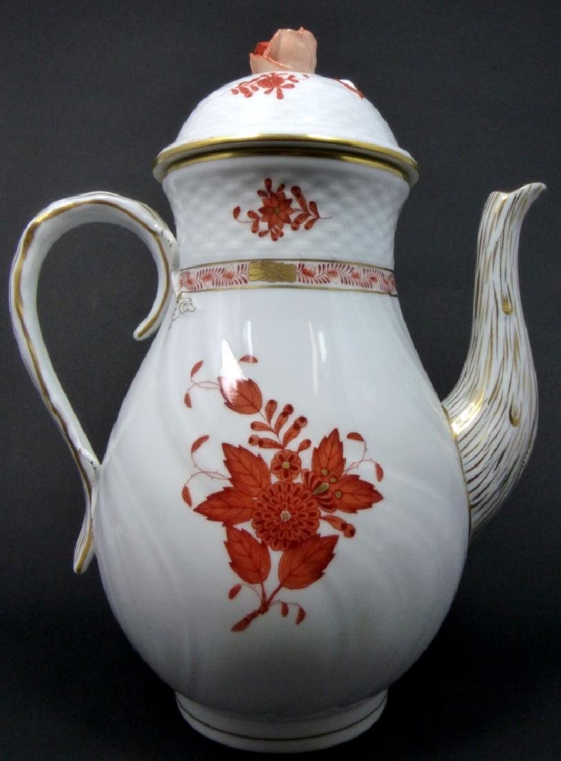 HEREND 'CHINESE BOUQUET' PORCELAIN COFFEE POT
