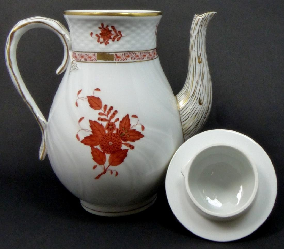 HEREND 'CHINESE BOUQUET' PORCELAIN COFFEE POT - 2