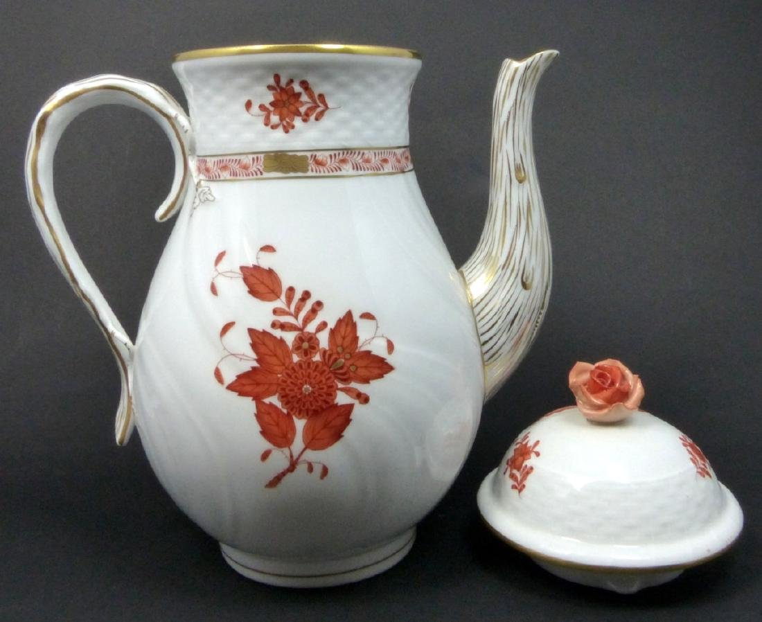 HEREND 'CHINESE BOUQUET' PORCELAIN COFFEE POT - 3