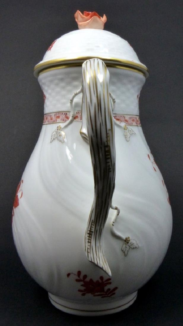 HEREND 'CHINESE BOUQUET' PORCELAIN COFFEE POT - 5
