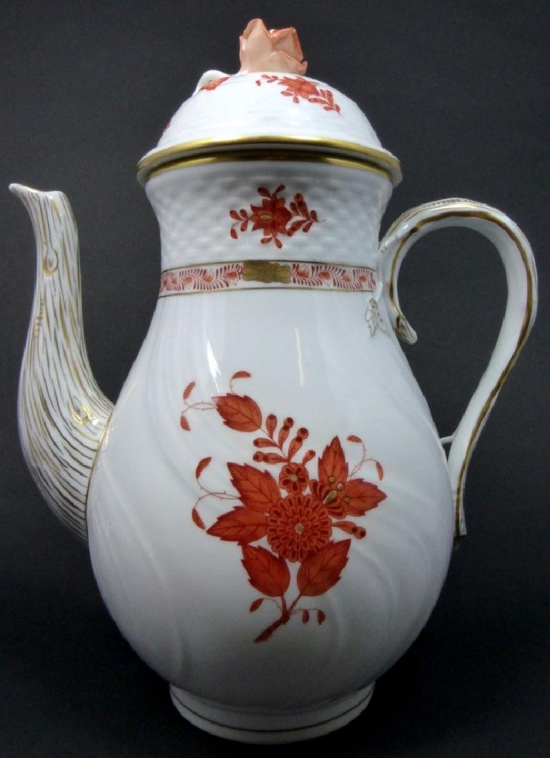 HEREND 'CHINESE BOUQUET' PORCELAIN COFFEE POT - 6