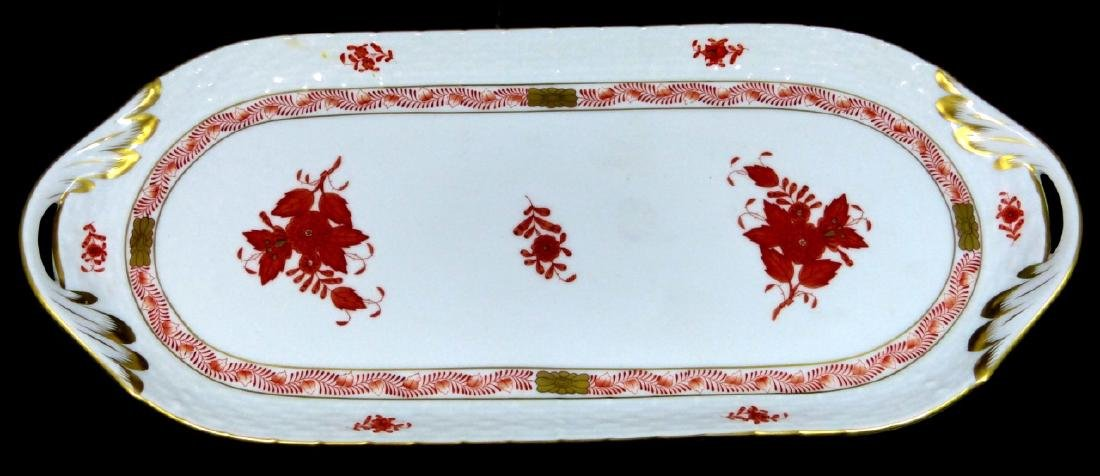 HEREND 'CHINESE BOUQUET' PORCELAIN TRAY