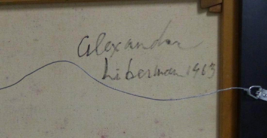 ALEXANDER LIBERMAN OIL PAINTING ON CANVAS 1963 - 4