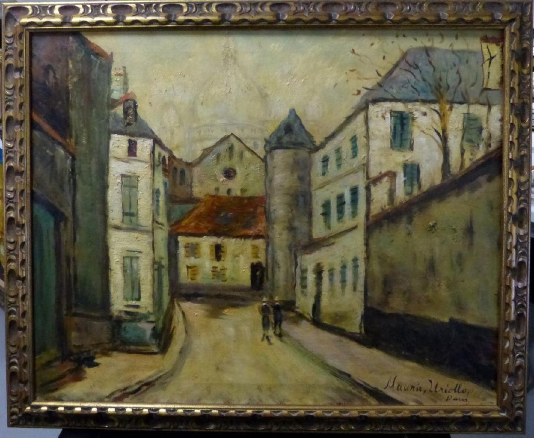 MANNER OF MAURICE UTRILLO OIL PAINTING ON CANVAS