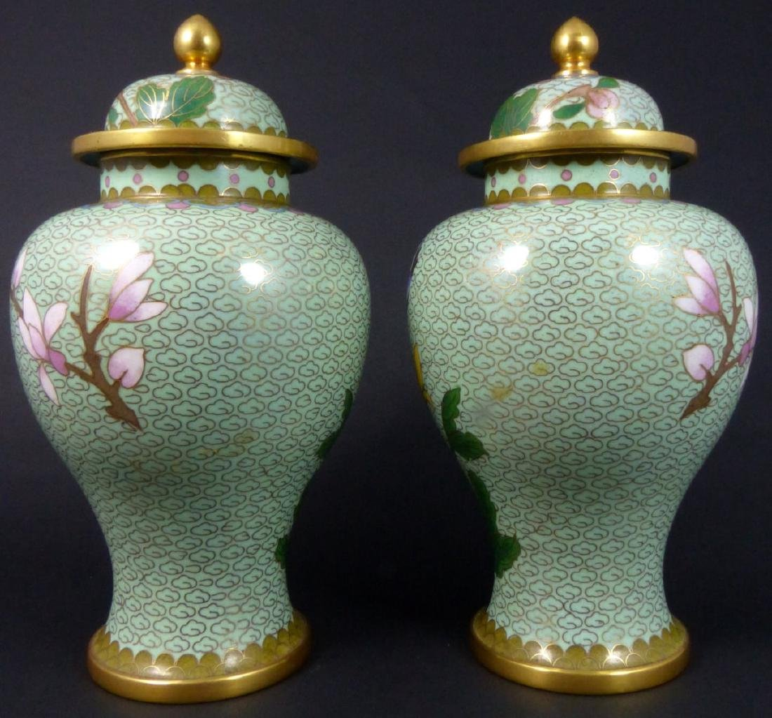 PR CHINESE CLOISONNE LIDDED URNS - 5