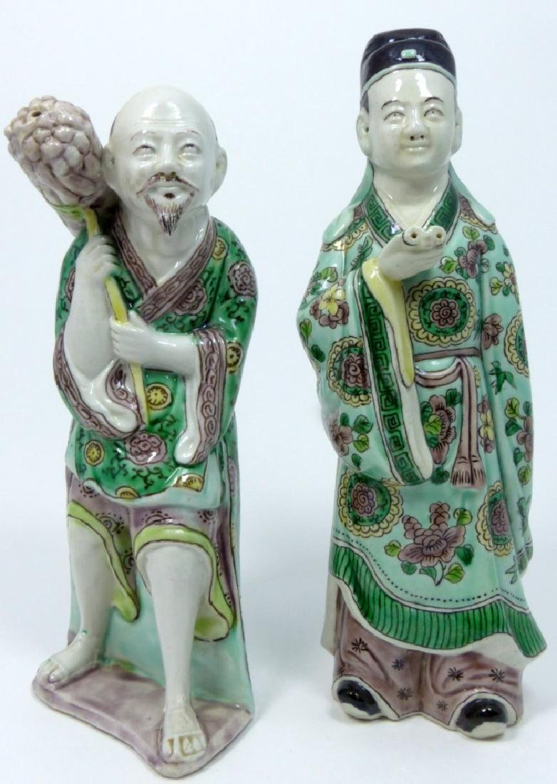 2pc CHINESE PORCELAIN FIGURES