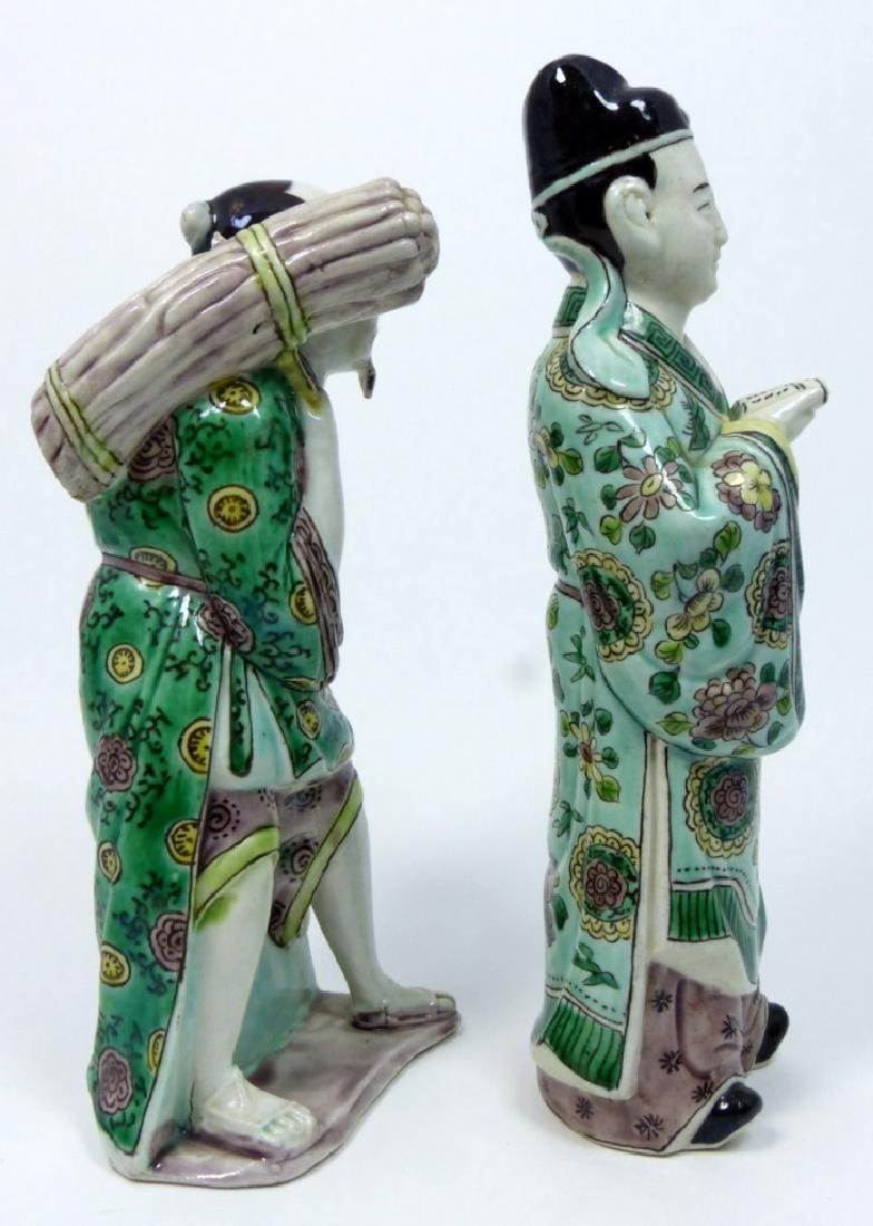 2pc CHINESE PORCELAIN FIGURES - 2