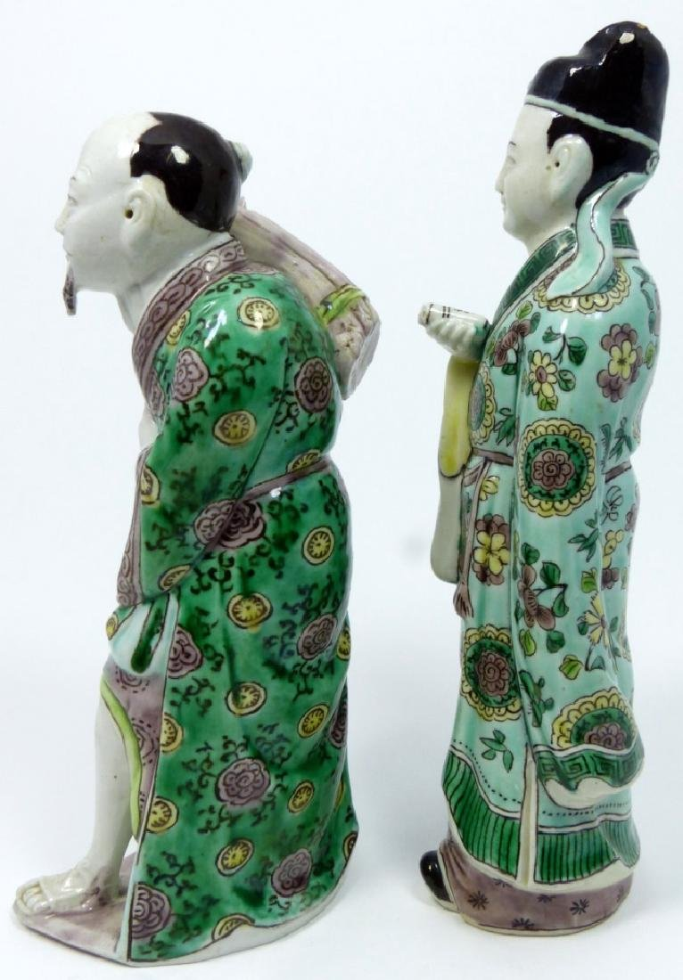 2pc CHINESE PORCELAIN FIGURES - 4