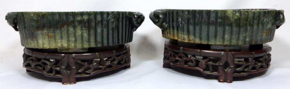 PR CHINESE SPINACH JADE MARRIAGE BOWLS - 10