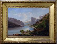 JOHANN WILHELM SCHIRMER OIL PAINTING ON CANVAS
