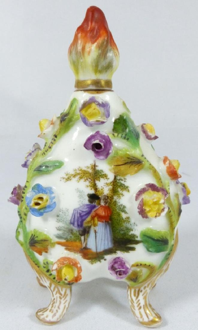 CARL THIEME DRESDEN PORCELAIN PERFUME BOTTLE