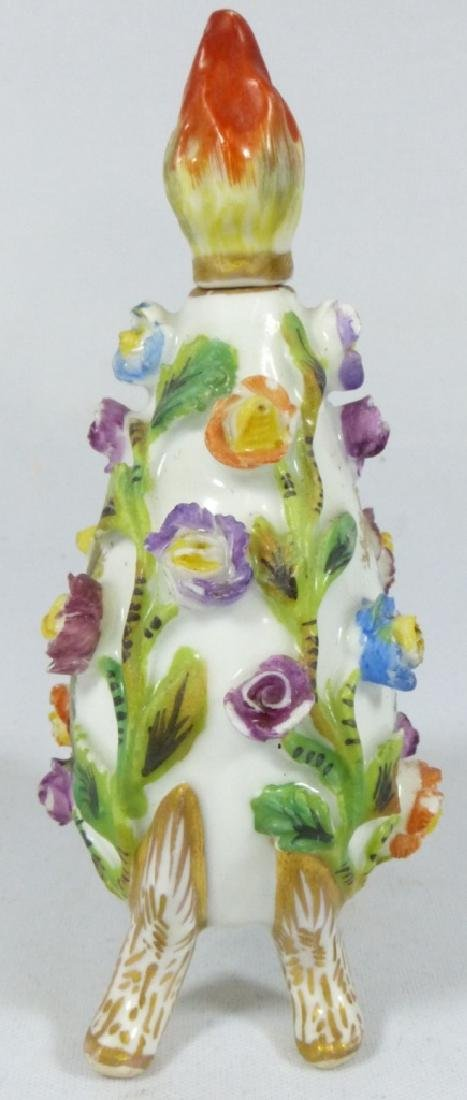 CARL THIEME DRESDEN PORCELAIN PERFUME BOTTLE - 2
