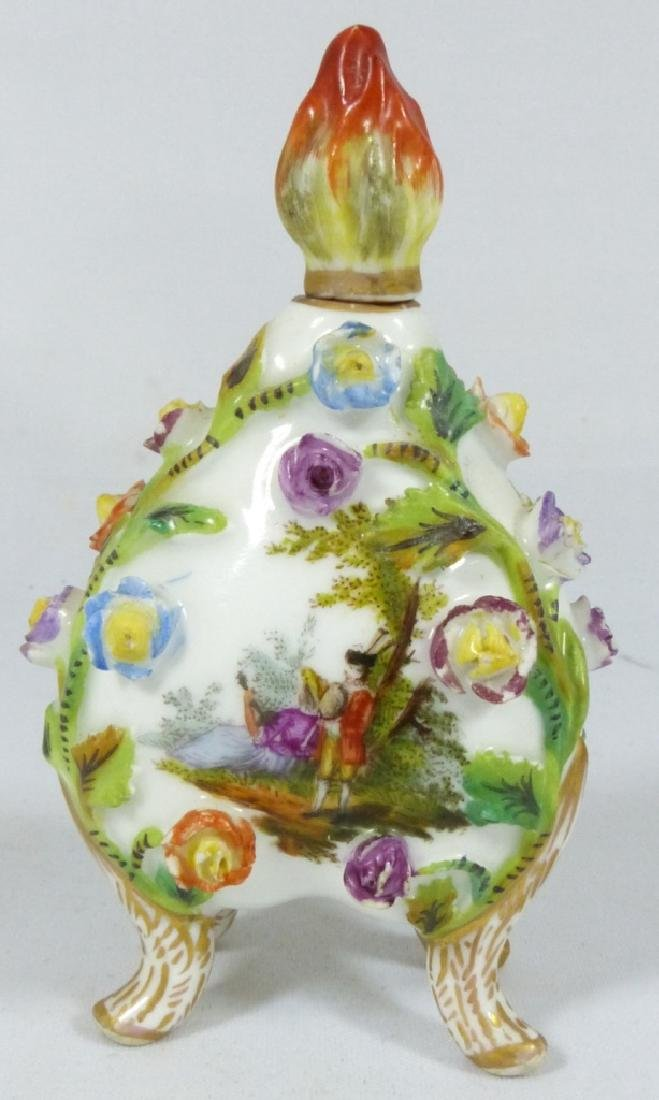 CARL THIEME DRESDEN PORCELAIN PERFUME BOTTLE - 3