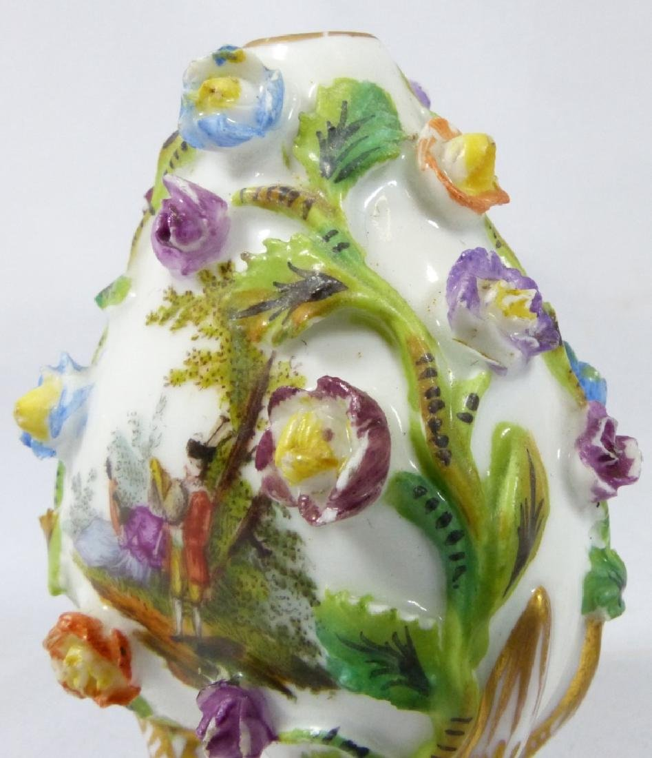 CARL THIEME DRESDEN PORCELAIN PERFUME BOTTLE - 6
