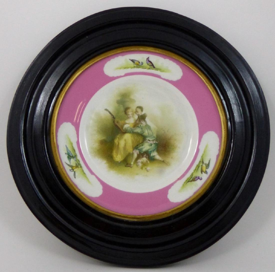 FRAMED PORCELAIN SCENIC PLATE