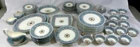 109pc Wedgwood Florentine Turquoise Porcelain