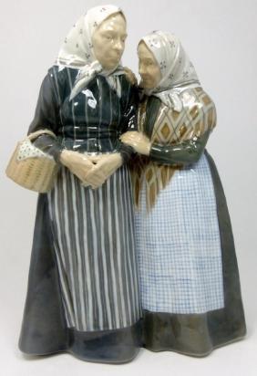 Royal Copenhagen 'the Gossips' Porcelain Figurine