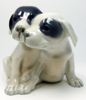 Royal Copenhagen Pair Of Puppies Porcelain Figure