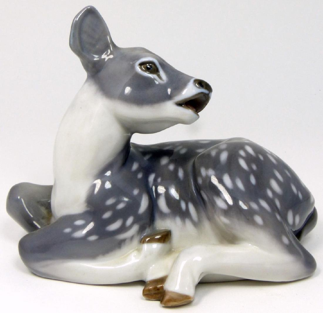 ROYAL COPENHAGEN 'RECUMBENT FAWN' PORCELAIN FIGURE