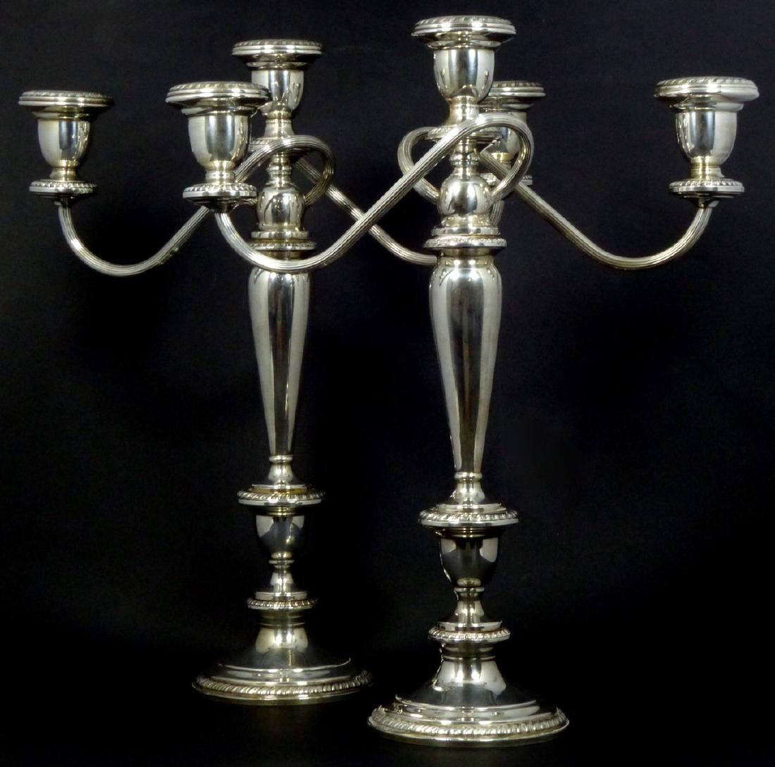 PR POOLE STERLING SILVER 3-LIGHT CANDELABRA