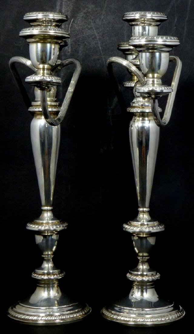 PR POOLE STERLING SILVER 3-LIGHT CANDELABRA - 3