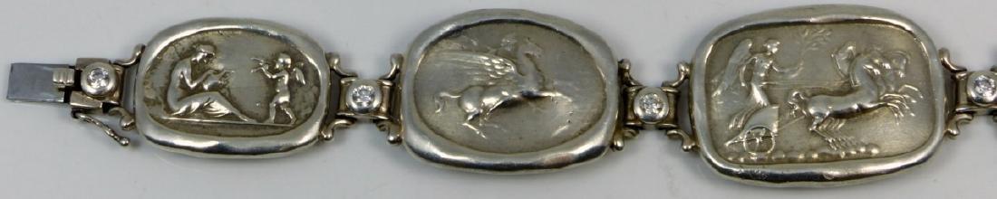 GREEK MYTHOLOGICAL STERLING SILVER BRACELET - 2
